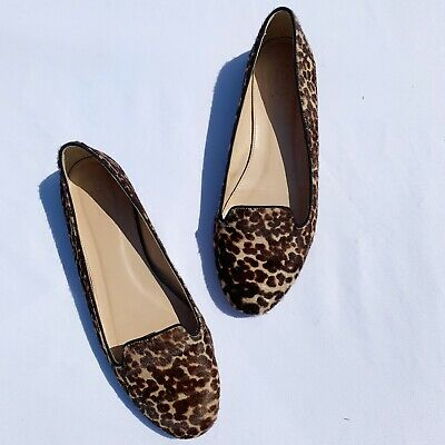 6d48105ed3fe J Crew Collection Sophie Calf Hair Women's Loafer Size 9.5 Leather Sole