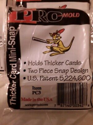 Pro Mold PC3 Thicker Card Mini Snap Tite Card Holder 10 count lot