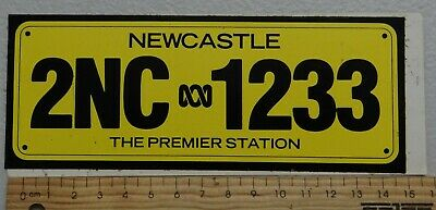 1 x NEWCASTLE 2NC 1233 THE PREMIER STATION RADIO COLLECTABLE STICKER