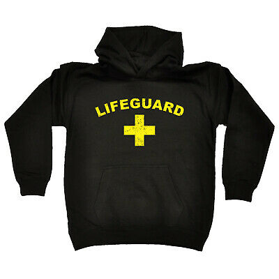 Funny Kids Childrens Hoodie Hoody - Lifeguard Yellow