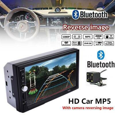 "7"" inch Double 2 DIN Car MP5 Player Bluetooth Touch Screen Stereo Radio Camera"