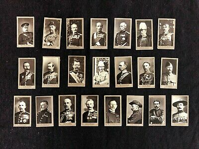 American Tobacco Co. Cigarette Cards Military Officers Series A & B