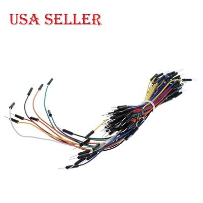 65PCS New Solderless Flexible Breadboard Male to Male Jumper Wires for Arduino