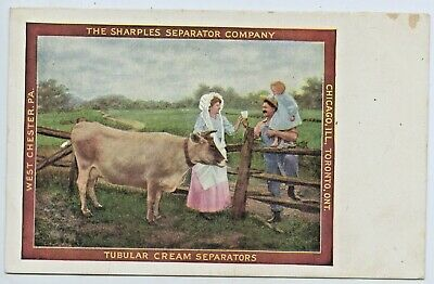 C.1905 Postcard Advertising Sharples Separator Co Chicago West Chester Pa C99