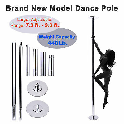 Portable Static Spinning Dancing Pole 45mm 660 Lb. Load Capacities