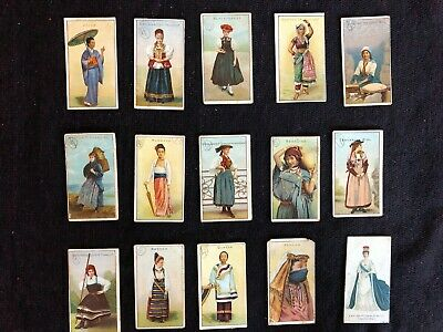 "Wills's cigarette cards "" Girls Of All Nations"" Series"