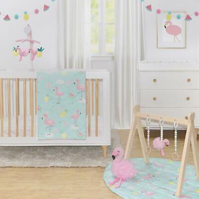 NEW Lolli Living 4 piece Cot Set Flamingo from Baby Barn Discounts
