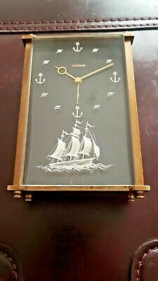 Vintage LeCoultre Mantel Clock 8 Day Music & Alarm With Nautical Scene
