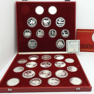 Russian 1980 Moscow Olympic Games Complete Silver Coin Set.
