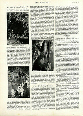 The Maitomo Cavern New Sealand Pictures From 1894