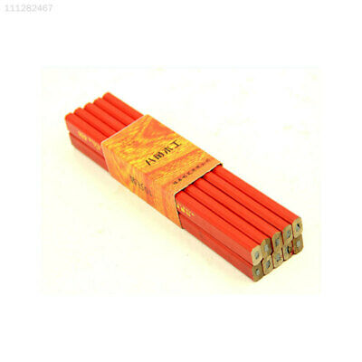 1CCD DIY 10pcs 175mm Carpenter Pencils Builders Joiners Woodworking Craft