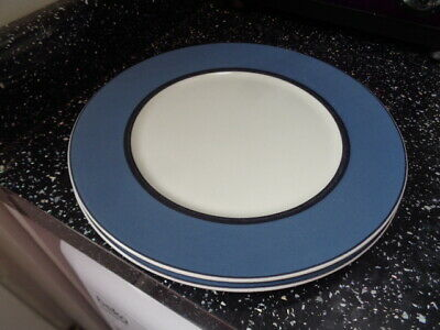 MARKS and SPENCER  MANHATTAN SALAD PLATES X 2 - BLUE