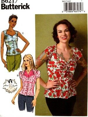 Butterick Sewing Pattern B6217 6217 Misses Blouse Gertie Size 12-20 NEW