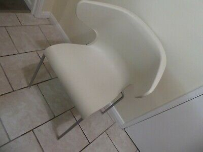 STACKING CHAIR - White Plastic