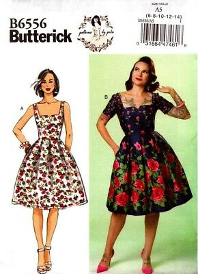 Butterick Sewing Pattern B6556 6556 Misses Dress Patterns Gertie Size 6-14 NEW