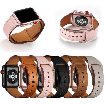 Genuine Leather Apple Watch Band Strap for iWatch 4 3 2 1 38/42mm 40/44mm