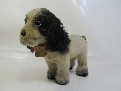 Vintage Germany Steiff Stuffed Animal Plush Mohair Toy Cocker Spaniel Dog Cockie