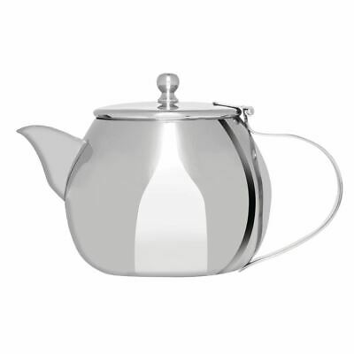 Olympia Non Drip Teapot Made of Stainless Steel Dishwasher Safe - 430ml