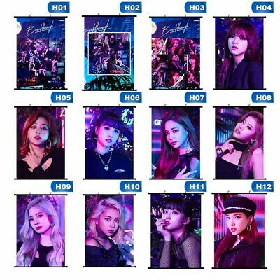 Kpop TWICE New Album [Breakthrough] Scroll Poster Members Photo Wall Mse