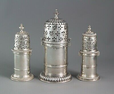 A rare matched set of three 17th Century Casters