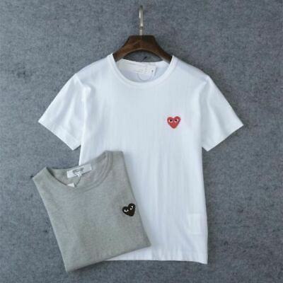 New Mens Womens Comme des play GARCONS CDG Heart basic tee short Sleeve T-shirts