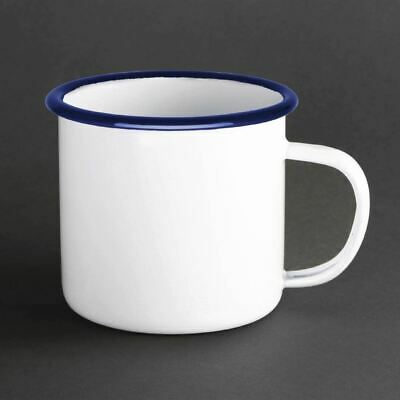 Olympia Enamel Mug Made of Steel Heat and Chemical Resistant 350ml Pack of 6