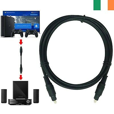 1m SHORT TOSlink Optical Digital Cable 4mm Audio Lead For Tv Soundbar PS4 Sky