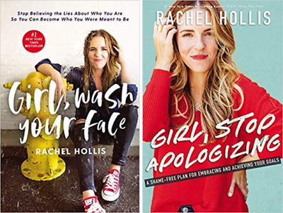 Rachel Hollis 2 Book Set- Girl Stop Apologizing & Girl wash Your Face (Paperbck)