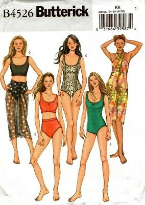 Butterick Sewing Pattern B4526 4526 Womens Swimsuit Bikini Size 6-8-10-12 NEW