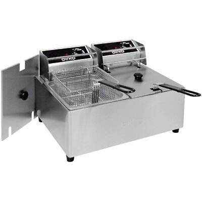 Birko Double Deep Fryer 1001002 Counter Top Basket Kitchen Cooking Equipment