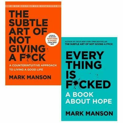 Mark Manson 2 Paperback Books Set (Everything Is F*cked, The Subtle Art of Not)