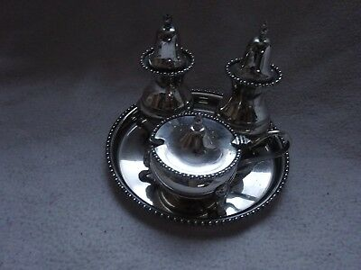 Vintage Arthur Price Silver Plated Cruet Set Tray