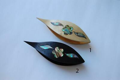Wooden Hand Made Tatting Shuttle With Pick & MOP Inlay