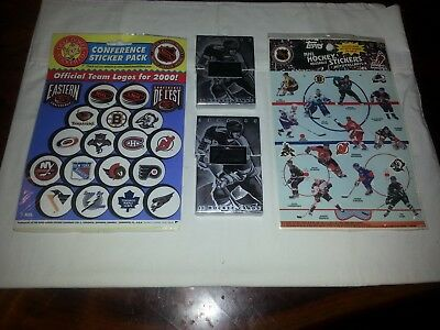 Set 1 of 5 Topps NHL Stickers, 2- 1994-95 Flair Cards, Okee Dokee NHL Stickers