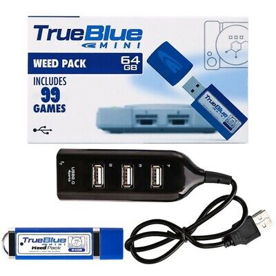 True Blue Mini Weed Pack 64 GB Pack 99 Spiele for PlayStation-Classic PS1 Games