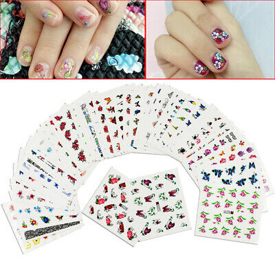 4B80 50Pcs Nail Stickers Decals Disposable Temporary Tattoos Chic Beautiful DIY
