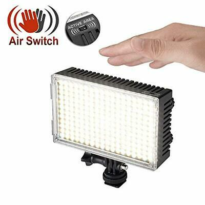Pergear A216C AIR Switch Sensor LED Video Light Panel Dimmable Bi-Color On-Camer