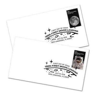 *NEW* 1969 First Moon Landing BWP FDC (Complete Set of 2) 2019 *In Stock*