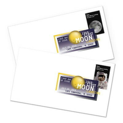 *NEW* 1969 First Moon Landing DCP FDC (Complete Set of 2) 2019 *In Stock*