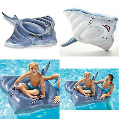 Intex Stingray Ride-On Inflatable Swimming Pool Beach Float Toy -57550Np