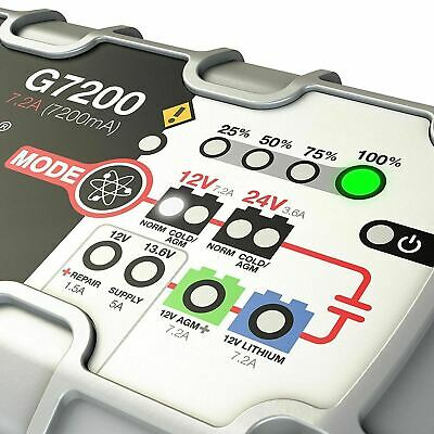 NOCO Genius G7200 UK 12V/24V 7.2A UltraSafe Intelligent Smart Battery Charger