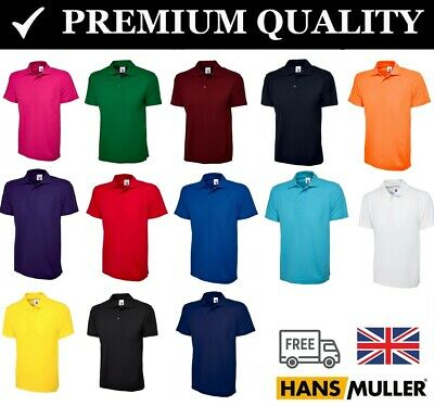 Mens Classic Polo T Shirt Casual Work Sports Pique Active Plain Sizes XS - 6XL