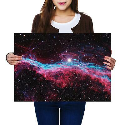 Amazing Purple Nebula Poster Size A4 A3 Stary Outer Space Poster Gift #8923