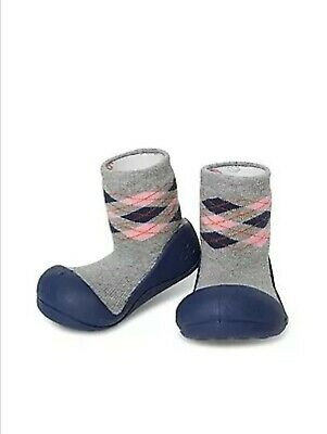 Brand New Attipas Argyle Baby Toddler XL Non Slip Sock Shoes