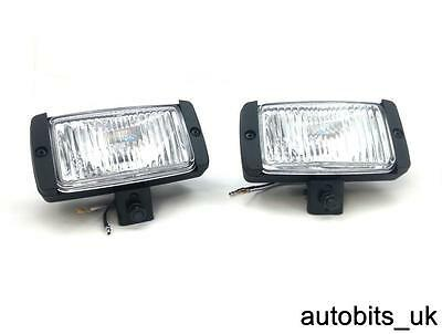 Universal Pair X2 12v 4x4 Offroad Car Fog Spot Light Lights Lamp E-Mark 145x75mm