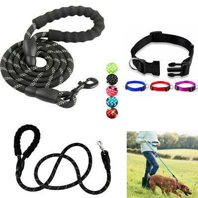 1X 5ft Reflective Training Walking Dog Strong Leash Nylon Pet Lead Traction Rope