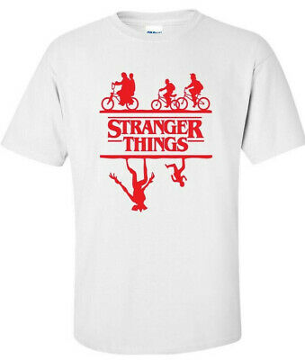 ** STRANGER THINGS  ** logo  T SHIRT *  The Upside Down  Hawkins  eleven colours