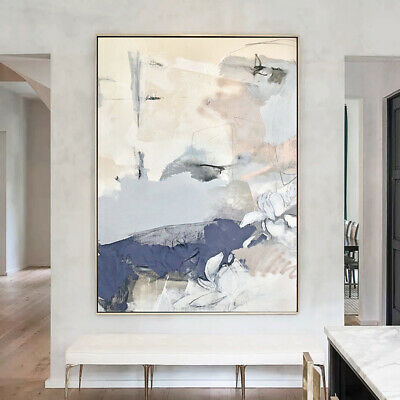 VV647 Modern Large Hand-painted abstract oil painting at canvas frameless 48''