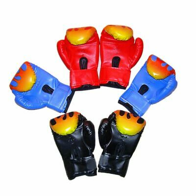 Hot Children Kids Fire Boxing Gloves Sparring Punching Fight Training Age 3-12