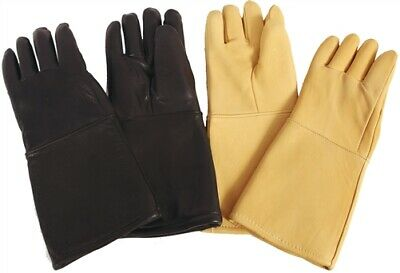 """X-Ray Gloves, Pair, 0.5mm, Black Leather 15"""""""